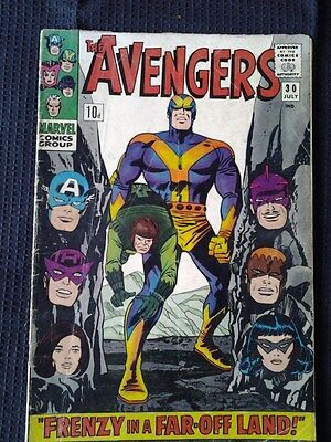 Avengers V1 #30 (1966) Silver Age - Marvel Comics - Black Widow