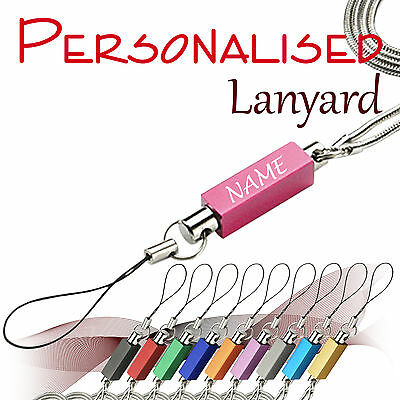 Personalised metal lanyard *LAF* engraved with text, name, logo, picture