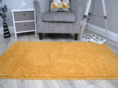 New Gold Mustard Ochre Thick Machine Washable Soft Plain Floor Rugs Mat Cheap