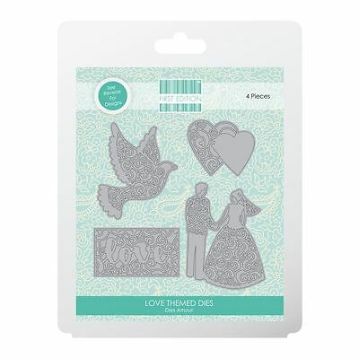 Trimcraft First Edition Metal Paper Card Craft Die Set - Love