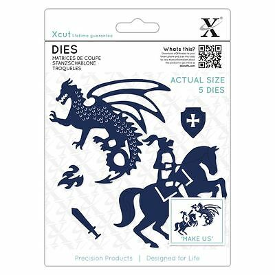 Xcut (Docrafts) Metal Die Set Paper Card Craft - Knight & Dragon