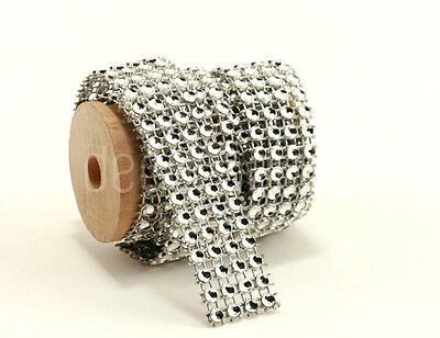 Diamante Mesh Diamond Effect Wedding Cake Table Glass Decor Wedding Ribbon BLING