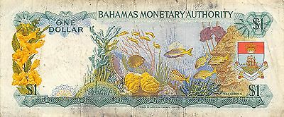 Bahamas  $1  L. 1968   P 27a  Series  G  Que. II  Circulated Banknote SD0717W