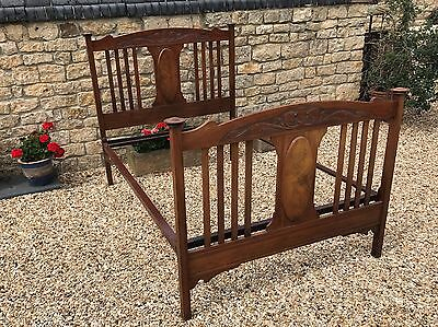 Original Antique Mahogany Double Bed