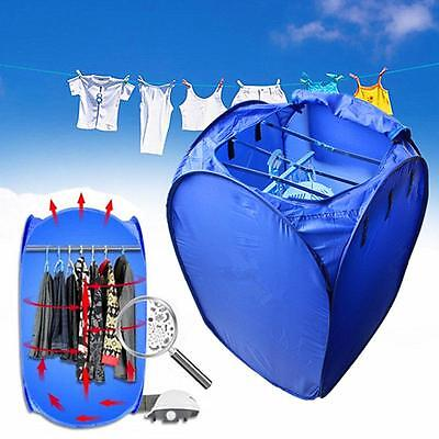 Portable 800W Electric Air Clothes Dryer Folding Fast Drying Machine Bag Box