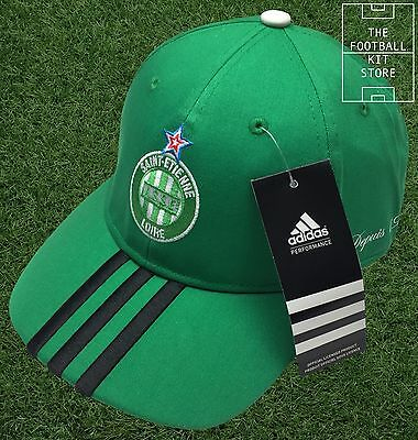 ASSE Saint Etienne - Mens / Boys Football Cap - Genuine adidas French Team Cap