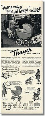1948 Thayer Doll Carriage for Girls - Christmas Toy Ad