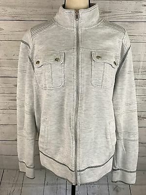 Inc International Concepts Womens Zip Up Long Sleeve Sweatshirt Size Large