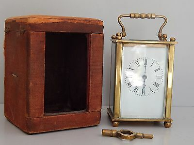 Antique cased French carriage Clock c 19010 GWO