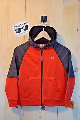 Champion Boys Hoodie Size S6/7 Orange Gray Zip Up NEW NWT