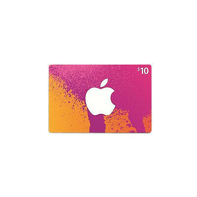 iTunes Gift Card : $10 - US Buyers Only! FREE SHIPPING!
