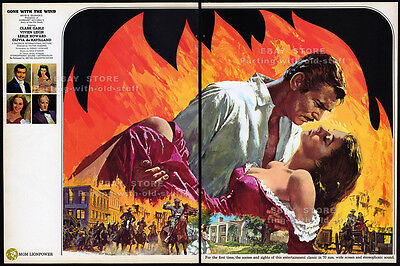 GONE WITH THE WIND__Original 1967 Trade Print AD / MGM movie promo__CLARK GABLE