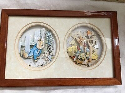 John Ellam de'coupage 1991 beatrix potter peter rabbit  nursery Retro Vintage