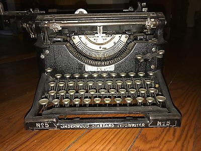 antique typewriter underwood
