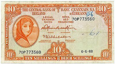 Ireland 10 shillings 6.6.68