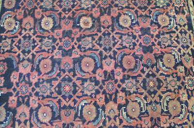 4 x 6'6 Fine 1930s Authentic Antique Persian All Over Hand Knotted Wool Area Rug