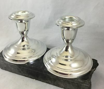 Silver Plate Console Candlesticks International Silver Co Meriden Ct New in Box