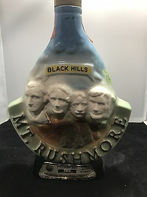 Jim Beam Black Hills Mt Rushmore Whiskey Decanter Bottle Collectible 1969