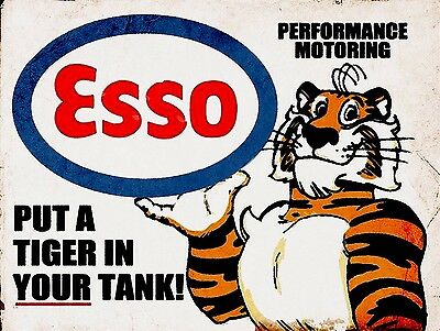 Put a Tiger in Your Tank4, Vintage Style Metal Aluminium Sign, gift, garage, car