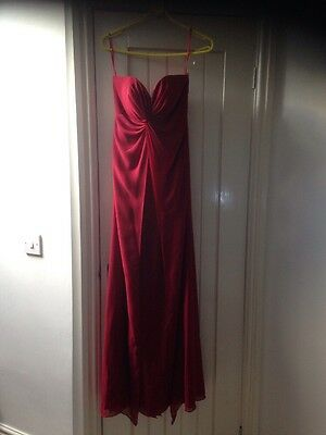 Scarlet Red Evening Prom Ball Gown Dress By Venus Size 8