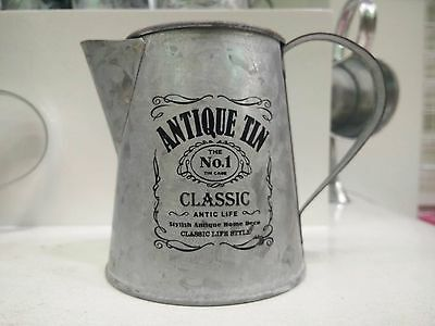 Antique Vintage Style Flower Plant Pot Jug Tin Watering Pitchers Container No.1