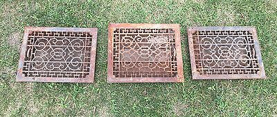 Lot Of 3 Floor Registers Salvage From 1884 Home - Antique - Steampunk - Historic