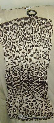 Ladies Tie Neck Leopard Print Patterned Summer Dress Size S - Bnwt