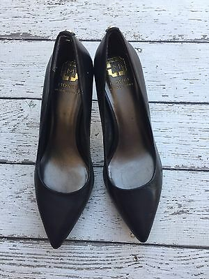 Monet Italy Black Pointy Toe Heels Women's Size 8