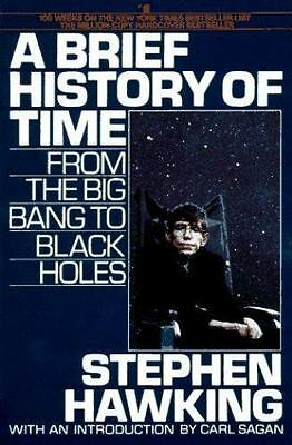 A Brief History of Time paperback book by Stephen W Hawking FREE SHIPPING steven