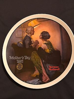 """Edwin M Knowles Norman Rockwell Plate Mother's Day 1981 """"After the Party"""""""