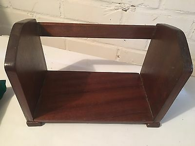 Antique Style Mahogany Book/Binder Rack