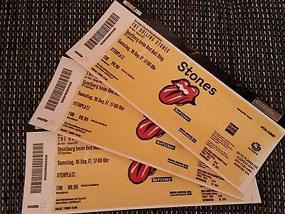 3 Stk. Rolling Stones Tickets Stehplatz in Spielberg No Filter Tour 16.9.2017