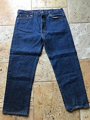 Vintage 1980's USA Made Levi's 501 Blue Jeans Mens 40x30 Denim Button Fly