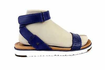 bd1d772d75a UGG LADDIE MARINO Blue Ankle Strap Leather Sandals Size 10 Us Womens