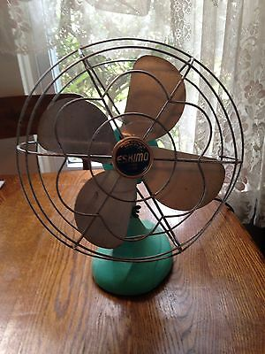 Vintage Eskimo Electric Oscillating Fan Working Condition