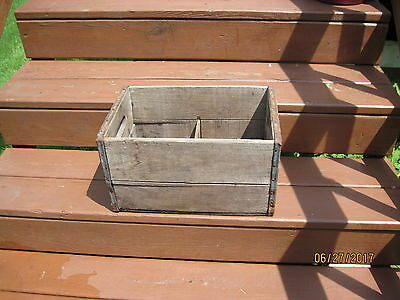 Antique Wooden Crate/Box with divider