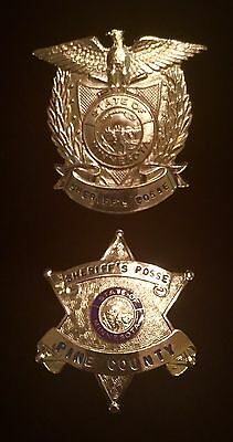 Obsolete Pine County Minnesota Sheriff's Posse Cap and Breast Badge