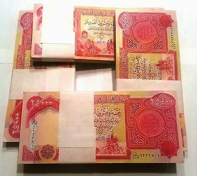 500k Iraq Dinar 25,000 notes. Uncirculated-mint condition.  Fast delivery.