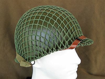 Original WWII US Military McCord M1 Helmet with OD chinstrap Westinghouse Liner