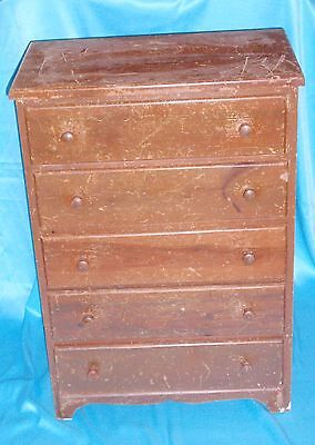 ** Vintage Small 5 Drawer Dresser Chest **