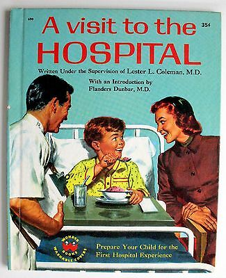 Wonder Books: A Visit To The Hospital, #690, 1958. Very Fine.     No Name