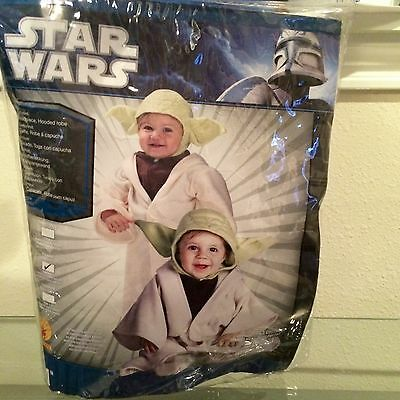 Star Wars Yoda Infant Baby Costume Size 1-2, 6-12 Months Dress Up Cosplay