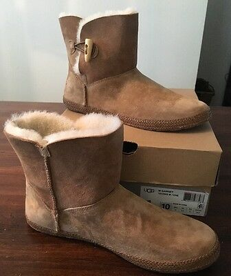 UGG Garnet Chestnut Suede/Sheepskin Boots US 10 Women's 1012503 *NEW*