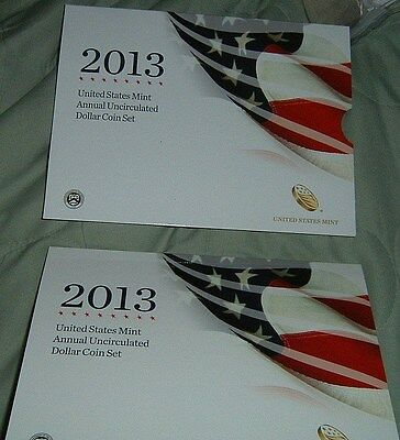 2013 Us Mint Annual Uncirculated Dollar Coin Set