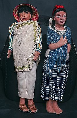 Vintage South American Stockinette Character Indian Dolls with Teeth @12""
