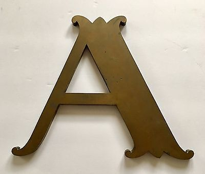 "Vintage Victorian - Architectural - Very Large Brass Sign 20' High - Letter ""a"""