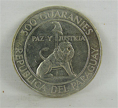 Paraguay 1973 Stroessner Silver 300 Guaranies