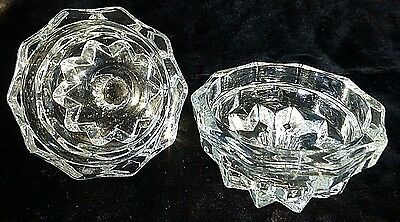 "Vintage Crystal Candle Holder Reversible 3/4"" taper + Votive Heavy Weight Glass"