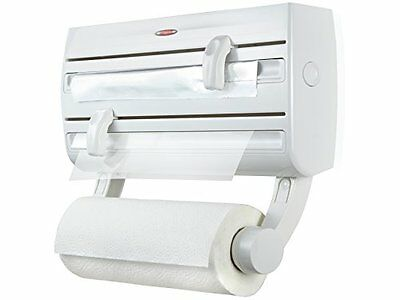 Leifheit Parat F2 Wall-Mounted Foil, Cling Film and Kitchen Roll Holder Dispense