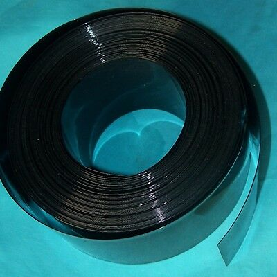 Φ268mm Black Battery Sleeve Wrap PVC Heat Shrink Tubing Flat Width 415mm x 1M